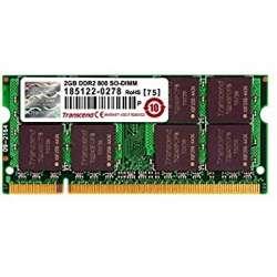 Barette de ram so-dimm 2 GO DDR2 800 TRANSCEND ou PATRIOT