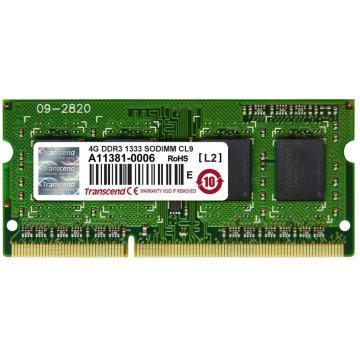 Barette de ram 4 GO SO DIMM DDR3 1333 TRANSCEND