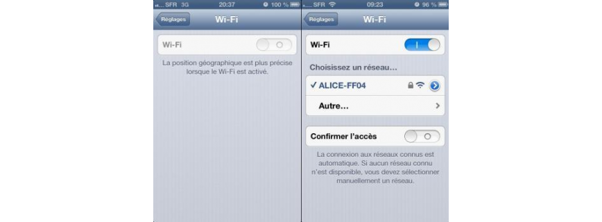 WIFI GRISE IPHONE 4S